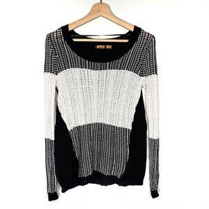 Belldini Sweater Knit Crew Large Striped